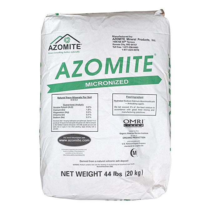 Azomite Powder Micronized 0-0-0.2 44 Pounds Bag