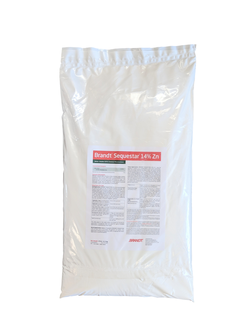 Chelated Zinc EDTA Fertilizer 14% Zinc Water Soluble 25 Pounds