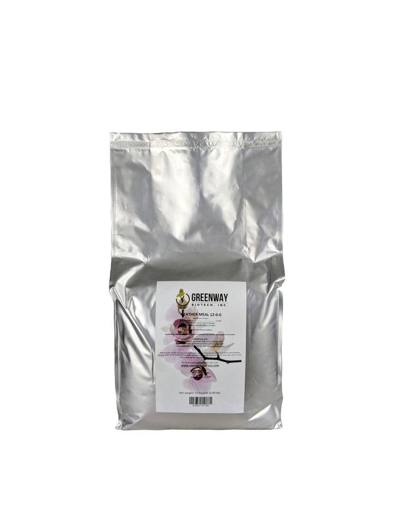 organic feather meal fertilizer 12-0-0 15 pounds
