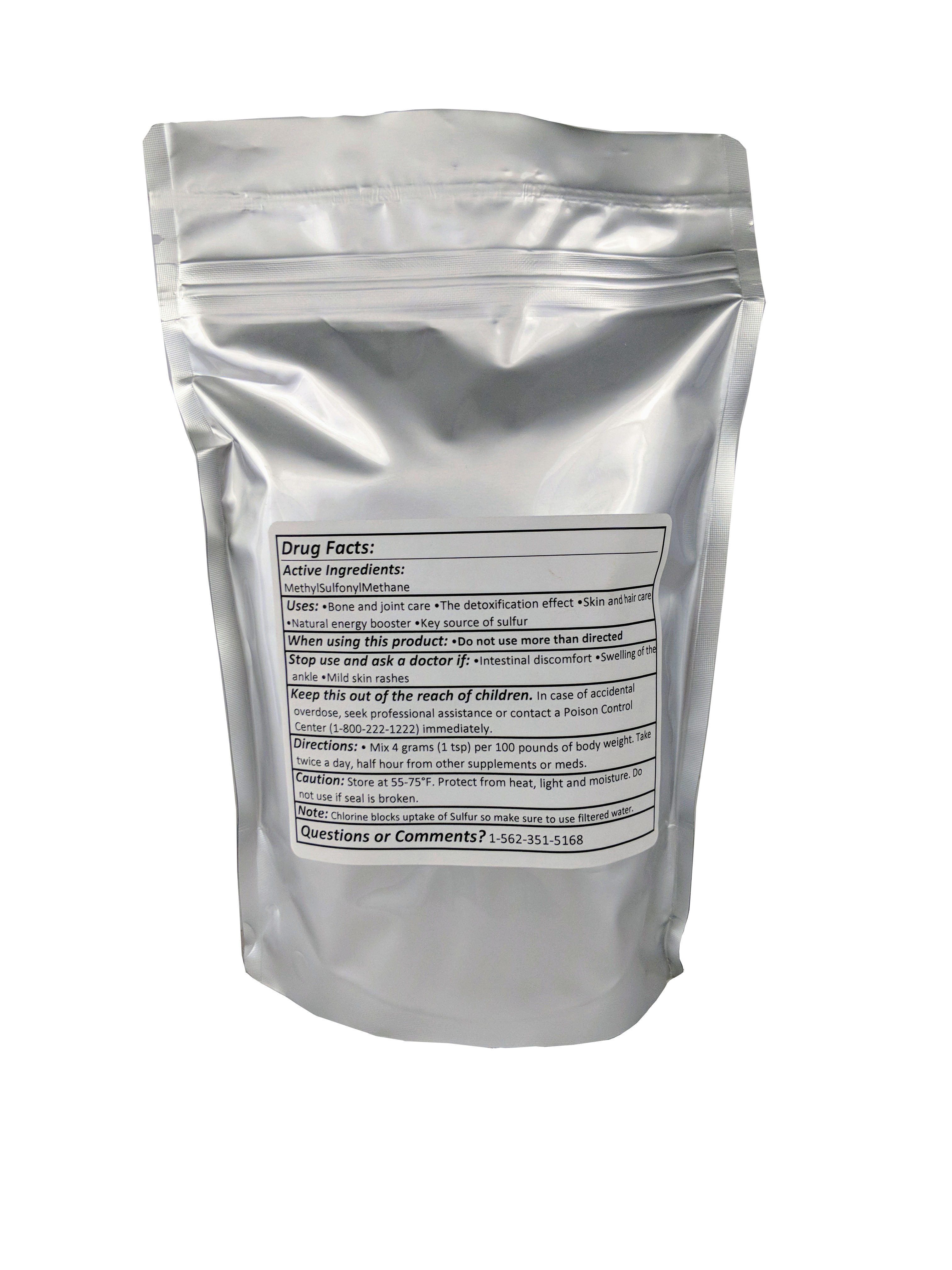 MSM (MethylSulphonylMethane) Powder 1 Pound