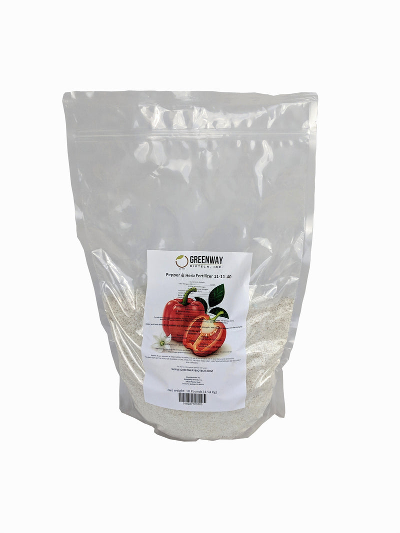 Pepper and Herb Fertilizer 11-11-40 Plus Micronutrients 100% Water Soluble 10 Pounds