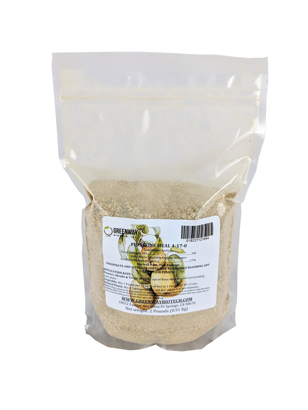 organic fish bone meal fertilizer 4-17-0 2 pounds