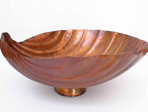 Copper Bathroom Sink Sea Shell Design Mexican Copper