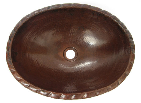Oval Copper Bathroom Sink