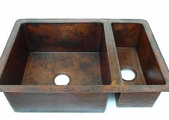 Double Copper Kitchen Sink