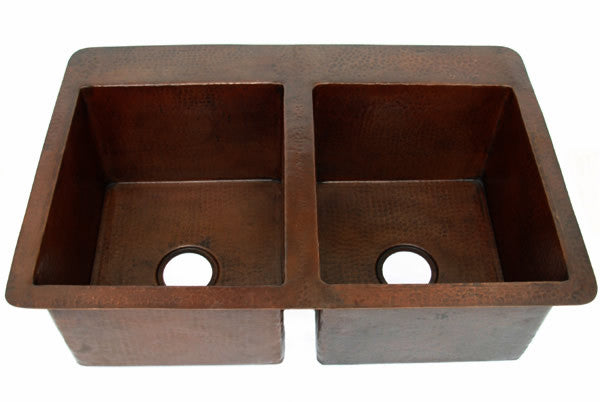 Double Copper Kitchen sink Model CS-0130