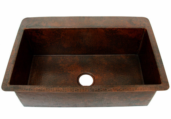 Copper Kitchen sink single bowl CS-0131