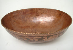 Vessel  Oval Copper Bathroom sink CS0015