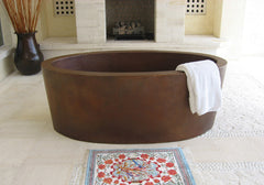 Copper Bathtub Double wall Japanese style