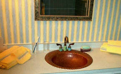 Copper Bathroom Sinks w/ Shell Design