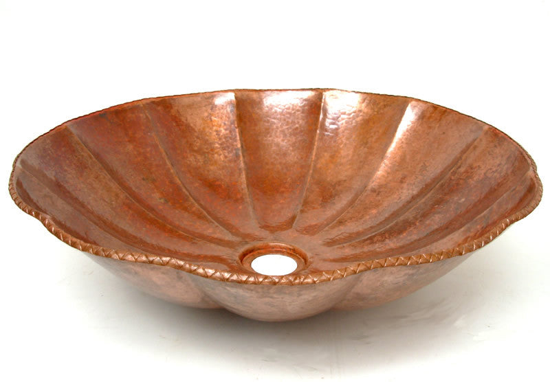 Copper Vessel sink pumpkin design Cs-0111