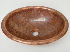 Above Counter Oval Vessel Sink