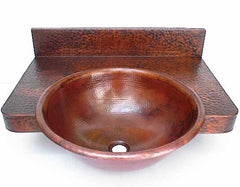 Copper Bathroom Sink and Copper Counter Top