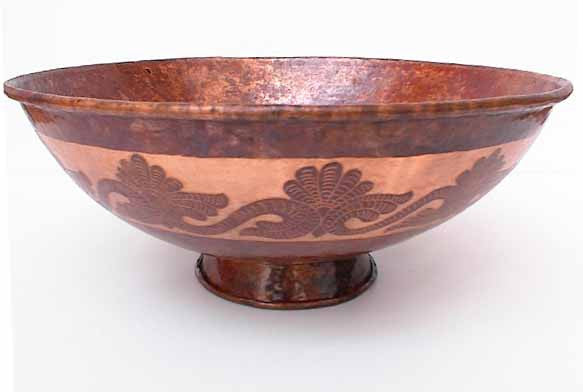 Above Counter Copper Vessel Sinks