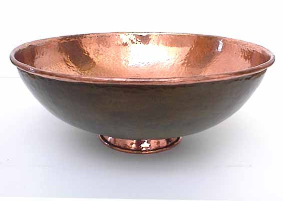 Copper Vessel Sinks w/ Old Green Patina CS-0006