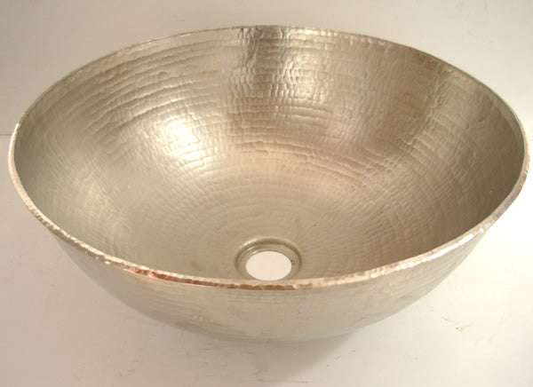 Vessel Brushed nickel copper sink CS-0143