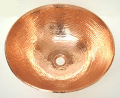 Vessel Shiny copper sink CS-0147