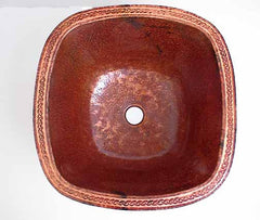 Engraved Copper Bar Sink