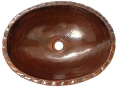 Oval Copper Bathroom Sink SUPER SALE