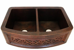 Double bowl round sink model CS-0173