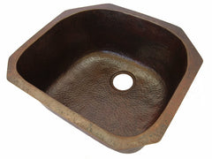 Single bowl Undermount art deco sink CS-0175