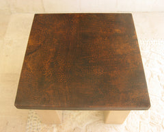 Hammered Square copper Tabletop (base not included)