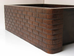 Copper Kitchen Sinks w/ Brick Design