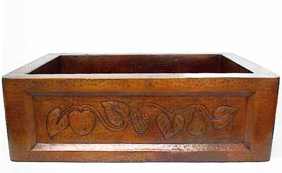 Copper Sink Basin w/ Fruit