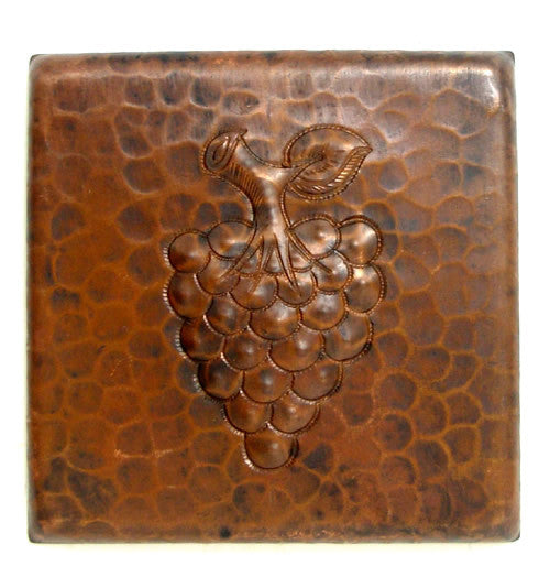 Copper tile Grapes design