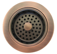 "Kitchen strainer basquet drain 3.5"" Clear brown"