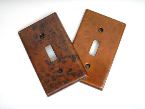 Copper light switch plates