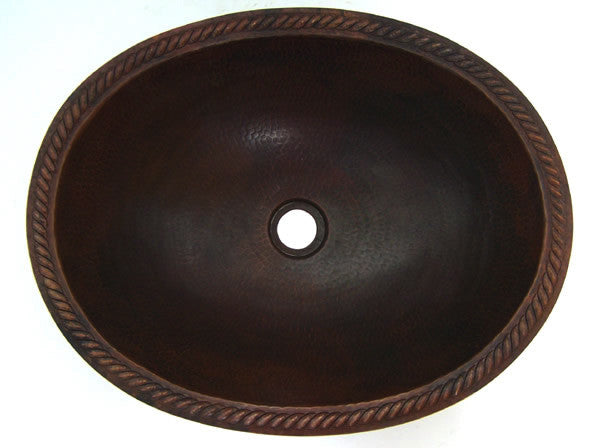 Oval Copper Bathroom Sink CS-0100