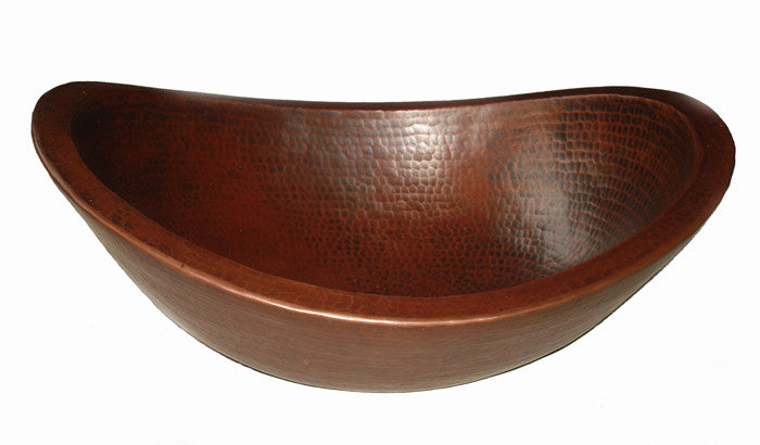Oval vessel sink double wall CS-0176