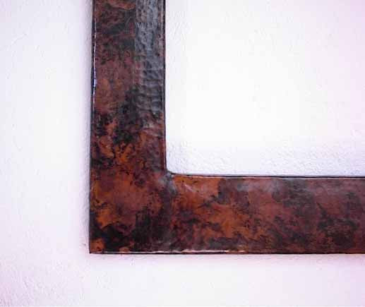 Beautiful huge square copper frame in dark finish