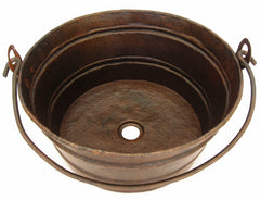 Copper Vessel sink Bucket Style CS-0172