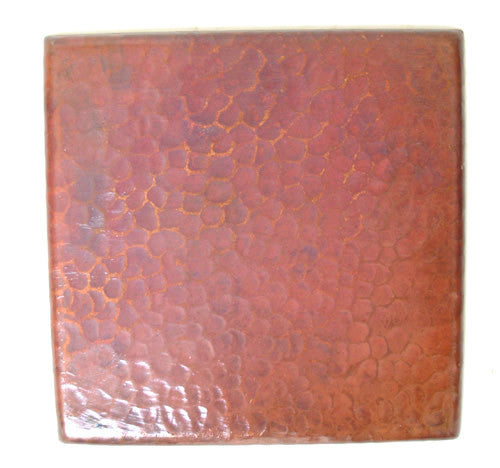 Hammered Copper tile Natural reddish color