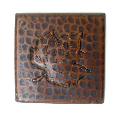 Copper Tile Leaf design