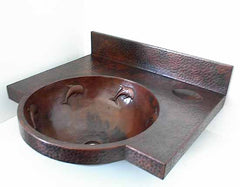 Copper Sink w/ Copper Counter Top