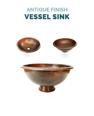 Vessel Copper Bathroom Sink
