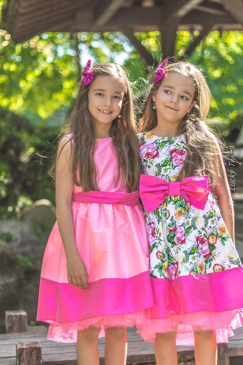 The Lucky Twins Royal wedding flower girls dress