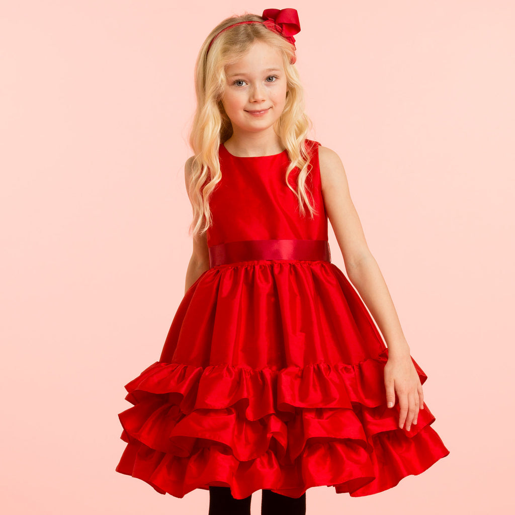 Girls Designer Red Party Dress | Holly Hastie London