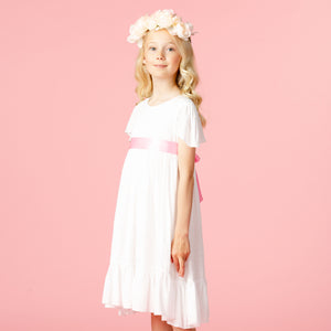 Girls Party Dress Poppy Petite Spot Pink | Holly Hastie London