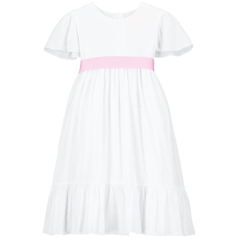Girls Party Dress Poppy Petite Spot Pink | Holly Hastie London  Edit alt text