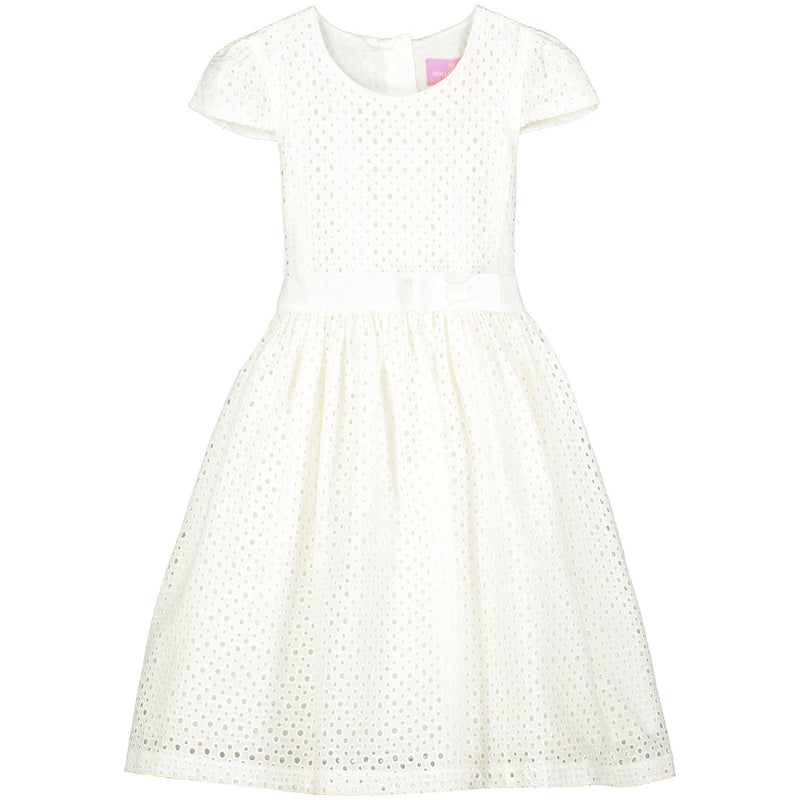 Girls Designer White Cotton Embroidered Dress | Holly Hastie London