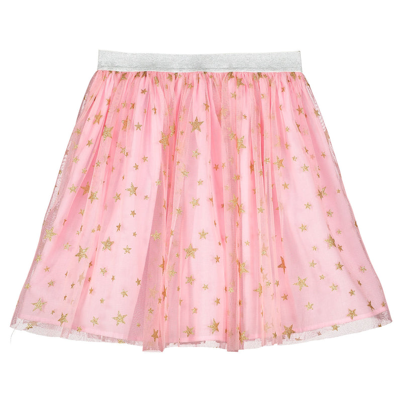 Girls Designer Pink Star Tulle Party Skirt | Holly Hastie London