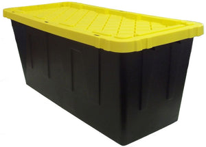 Plastic storage container for hay