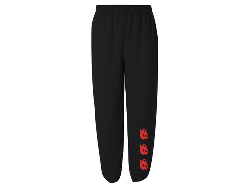 SUPREMA SWEATPANTS // UNISEX - BLACK