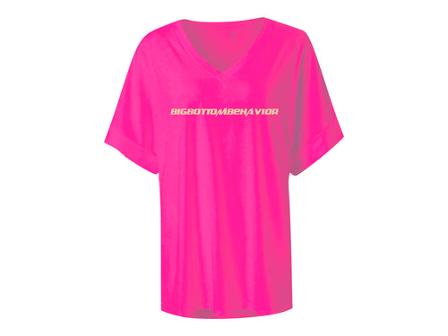 BBB LOUNGE TEE - HOTTIE PINK