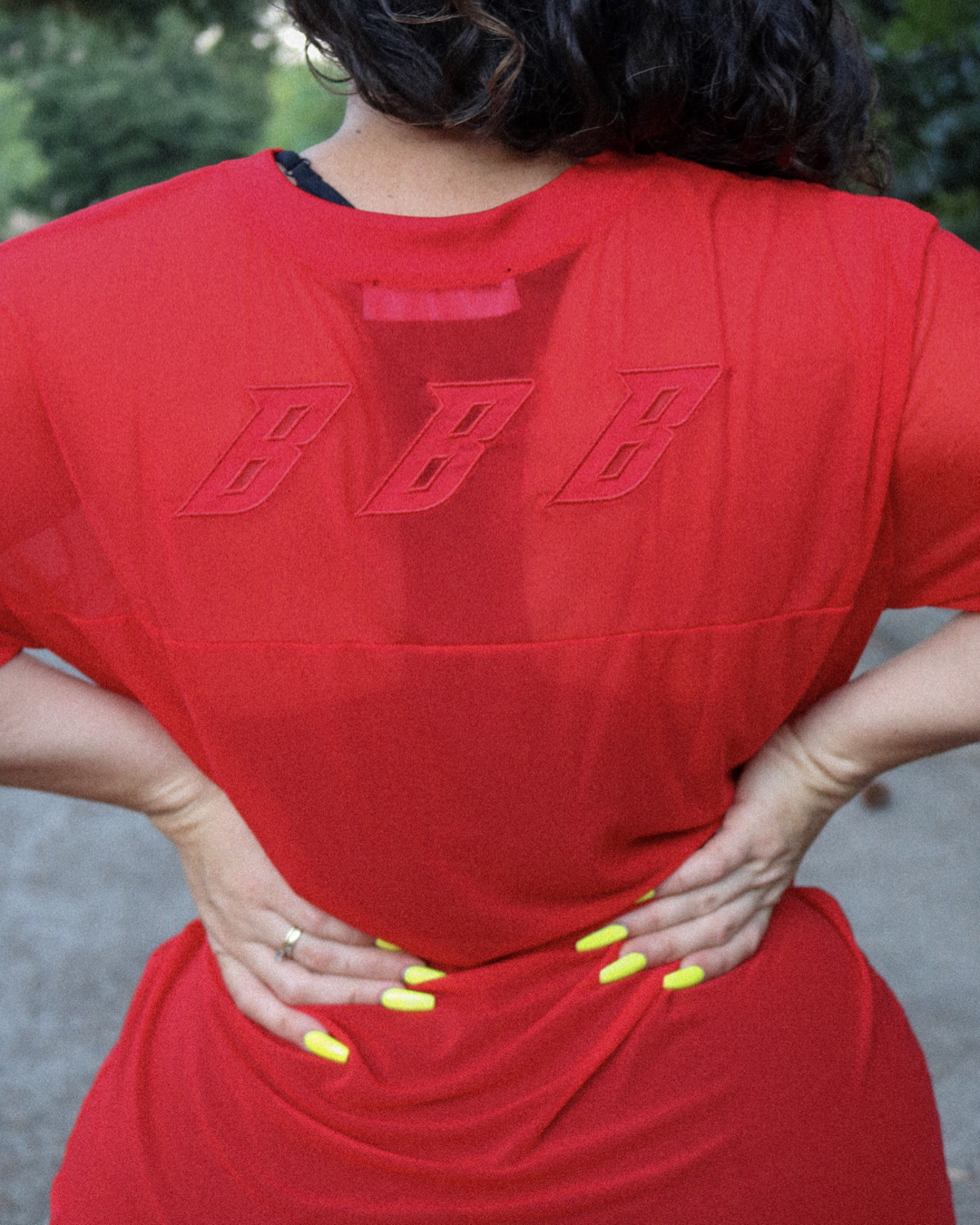 BBB SHEER JERSEY - RED