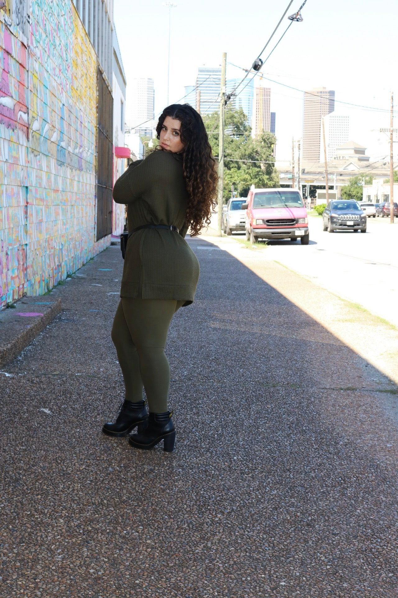 Body Leggings - Olive